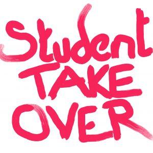 Student Take Over graffitti