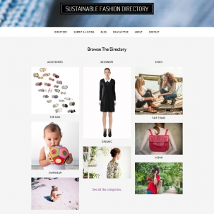 Sustainable Fashion Directory website